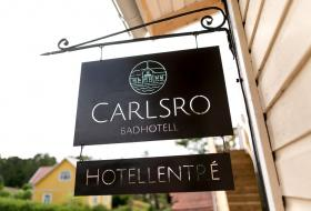 Carlsro badhotell - skylt