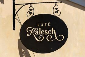 Kafé Kalesch - skylt